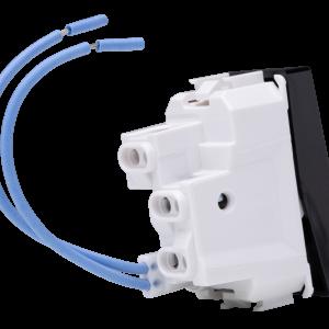 Interruptor Simples c LED 10A Preto N1101.3 PT, Linha Unno Life, ABB – 3