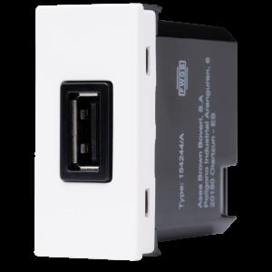 Módulo USB 750mA N1185 BL Branco, Linha Unno, ABB – 2