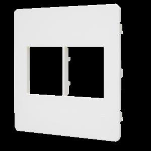 Placa 4×4 2 + 2 Módulos N1672.2 CR Creme, Linha Unno Life, ABB – 2