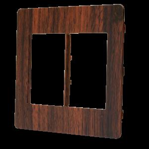 Placa 4×4 3 + 3 Módulos N1673.6 WG Wengue, Linha Unno Life, ABB – 2