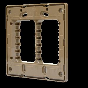 Suporte 4×4 Horizontal N1673.9 DO Dourado, Linha Unno, ABB – 2