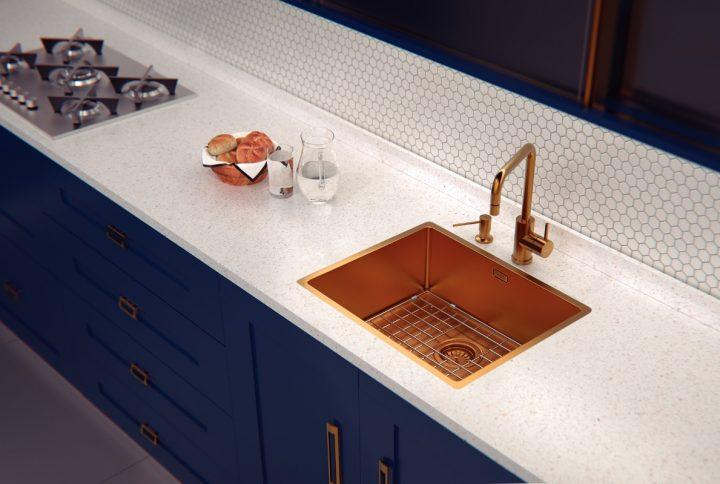 Tramontina lança cubas para cozinha, misturadores e dosadores de sabão   nas cores Gold, Rose Gold e Black