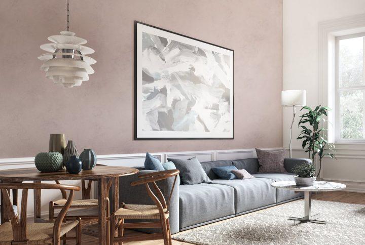 Diferentes maneiras de aplicar o efeito cimento queimado em sua sala de estar