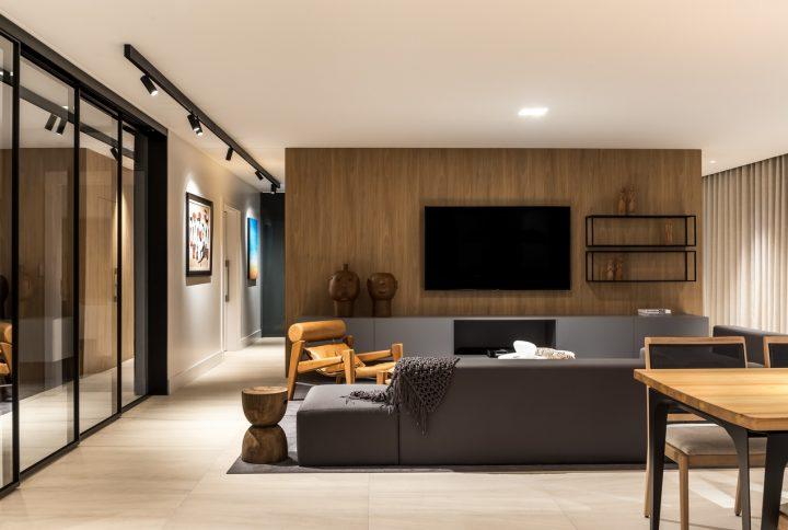 Apartamento de 350 m² assinado pelo escritório Michel Macedo destaca móveis e estilo contemporâneo